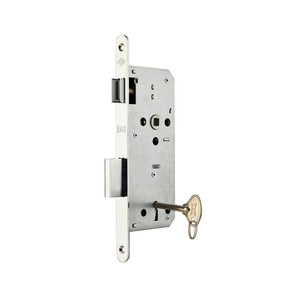 Ekstra Gömme Kapı Kilidi 45 mm Oval-Krom Tek Anahtarlı