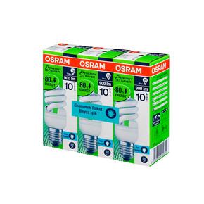 Osram 3'Lü 15W Mini Spiral Enerji Tasarruflu Ampul Beyaz Işık