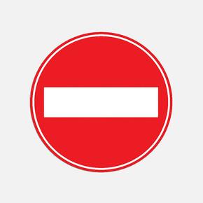 Vidalı Levha Sticker Etiketi 2'li - Taşıt Giremez