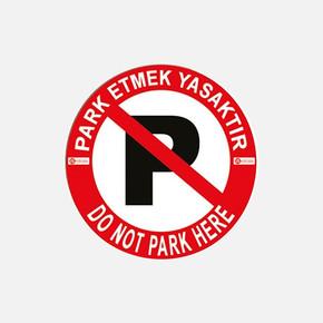 Vidalı Levha Sticker Etiketi 2'li - Park Yasak