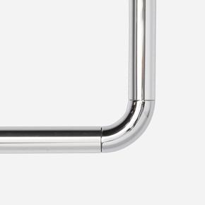 Köşe Banyo Perde Borusu Aluminyum Beyaz