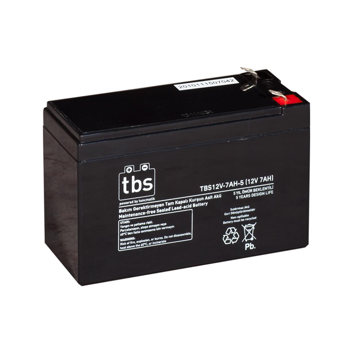 Tunçmatik Tbs 12V-7Ah Ups Tip Akü