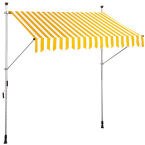 Teleskopik Tente Sarı-Beyaz 250x130 cm