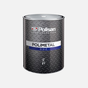 0,75L Polimetal Düz Mat Siyah