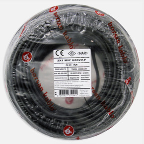 Borsan 2X1 mm Ttr Kablo Dolgulu Siyah 50 Mt