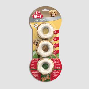 8in1 Delights Tavuklu Halka Köpek Ödül Kemiği