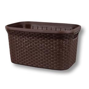 Hasır Görünümlü Çamaşır Selesi, 35 lt. Kahve