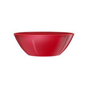 Parlak Oval Saksı Kırmızı Brussels