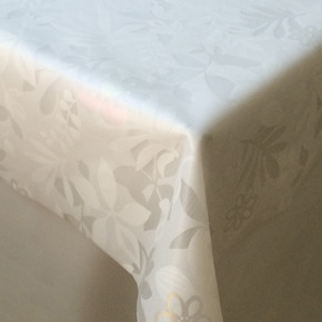 En:130Cm Masa Örtüsü Opak 05-Şarmaşık Beyaz