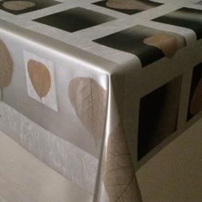 En:140Cm Masa Örtüsü Yakamoz Beyaz Golden Check Sılver