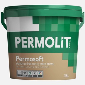 15Lt Permasoft Silikonlu İpek Mat İç Cephe Boyası K. Beyaz
