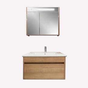 Gold Banyo Perimelis Banyo Dolabı 80 cm