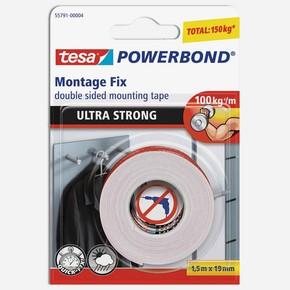 Tesa Powerbond Ultra Güçlü Çift Taraflı Montaj Bandı