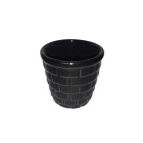 Mini Kaktüs Saksı Siyah
