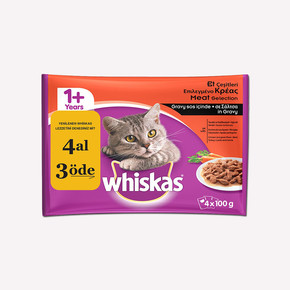 Whiskas Etli Seçenekler Multipack Yaş Kedi Maması 4'lü Paket