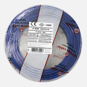 Borsan 4 mm Nya Kablo Mavi 100 Mt