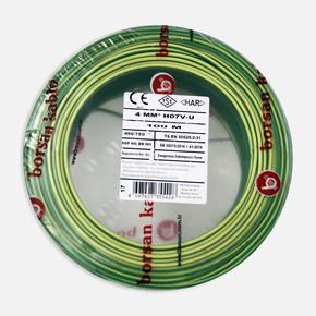 Borsan 4 mm Nya Kablo Sarı Yeşil 100 Mt