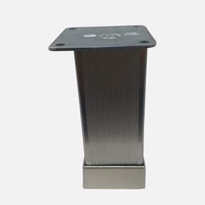 Alu.Çizgili Kareayak 40X40-10Cm Inox