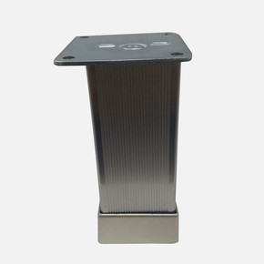 Alu.Çizgili Yuv.Ayak 40X40-8Cm Inox