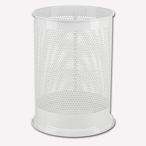 Büro Tipi Metal Çöp Kovası Beyaz