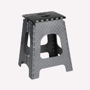 Katlanır Plastik Merdiven Büyük Siyah-Gri