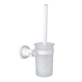 Tuvalet Fırçalığı Beyaz/Krom