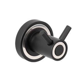 Sevılla İkili Askılık Siyah Mat/Krom