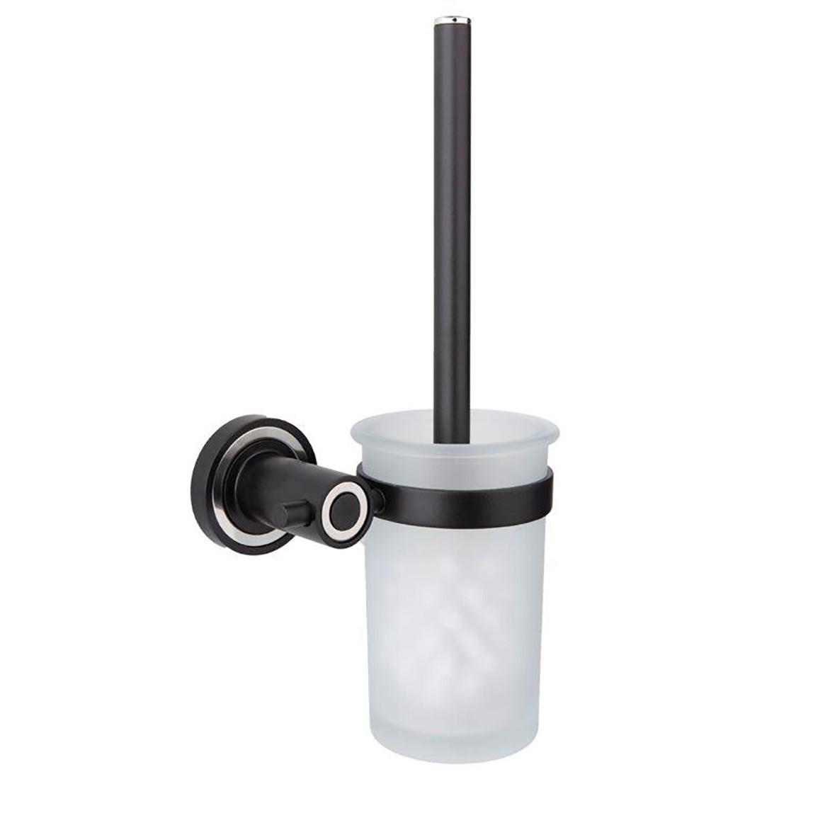 Sevılla Tuvalet Fırçalık Siyah Mat/Krom