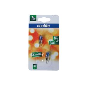 Ecolite 2'Li G4 20W Halojen Ampul