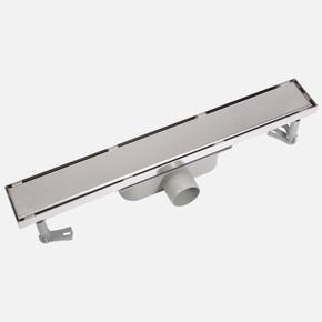 Paslanmaz Çelik Düz Izgaralı ve Çerçeveli 20 cm Duş Süzgeci