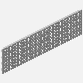 Çelik delikli Levha, 800 X 200 mm, beyaz