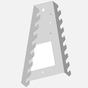 Alet anahtar Tutucu, 133 X 195 mm, beyaz (Vida Anahtarları Tutucu, 133 X 195mm, Beyaz )