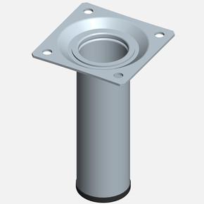 Masa Ayağı, Çelik boru yuvarlak, 100mm, paslanmaz Çelik renginde