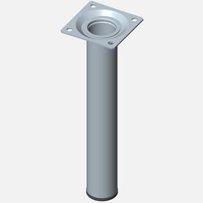 Masa Ayağı, Çelik boru yuvarlak, 200mm, paslanmaz Çelik renginde
