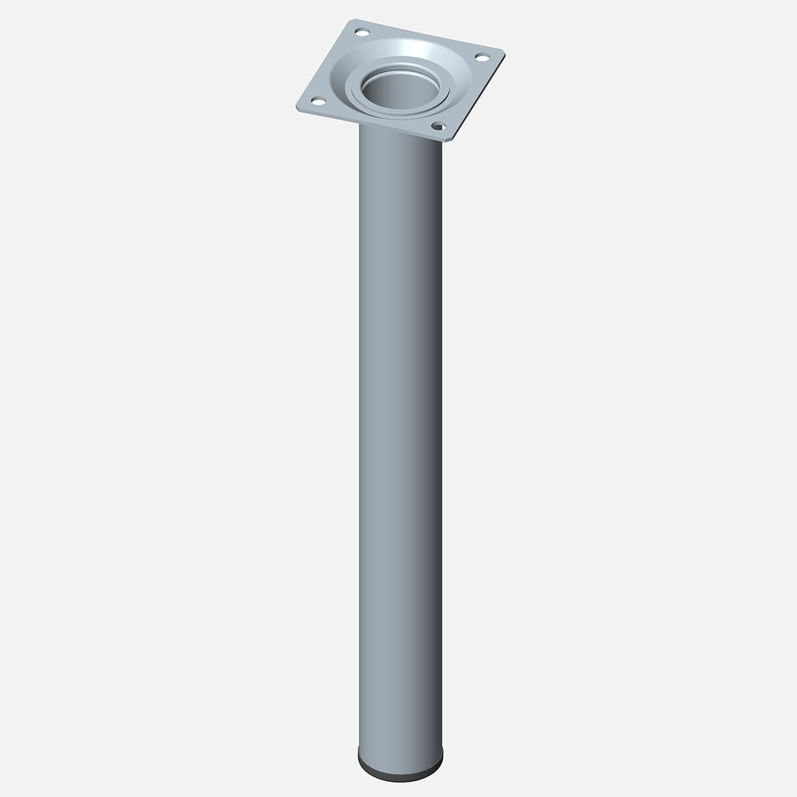 Masa Ayağı, Çelik boru yuvarlak, 300mm, paslanmaz Çelik renginde