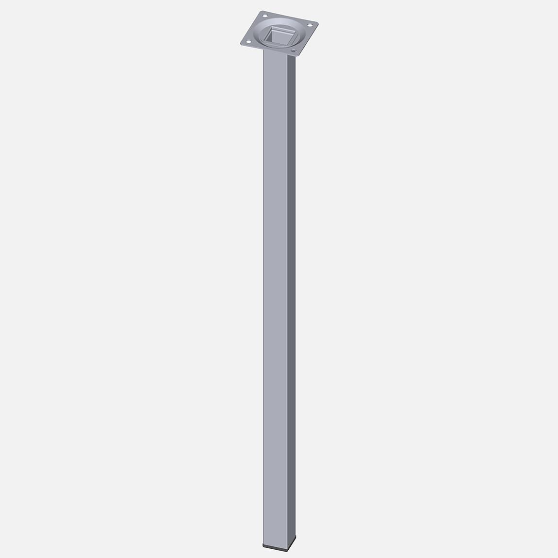 Masa Ayağı, Çelik boru kare, 600mm, krom