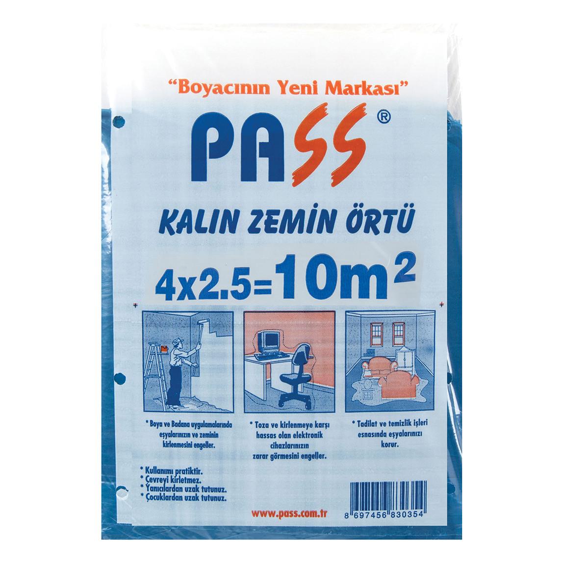 Pass Kalın Zemin Mavi Örtü 10m²