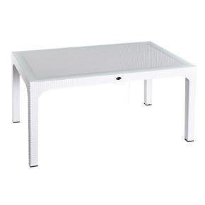 Hm-730 90X150 Cm Rattan Masa Beyaz