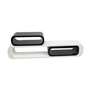 BHP 8216 3'lü Raf Seti Beyaz-Siyah