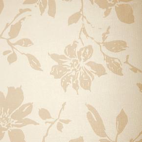 Emboss Çiçek Bej Duvar Kağıdı