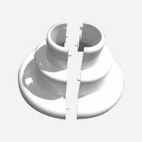 Kısa Tekli Kalorifer Petek Boru Gizleyici  Beyaz