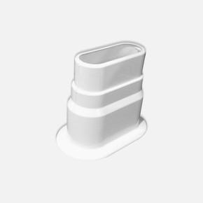 Ayarlı Çiftli  Kalorifer Petek Boru Gizleyici Beyaz