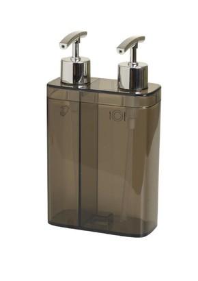 Viva 2'Li Sıvı Sabunluk Seffaf Siyah