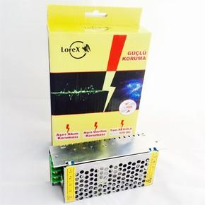 LOREX LR-GUCSW15 12V 15A Metal Kasa Kamera Adaptörü