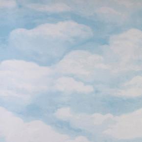 Emboss Bulut Duvar Kağıdı