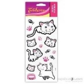 Sevimli Hayvanlar Puffy Sticker