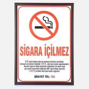 Sigara İçilmez Ahçap Çerçeve 35x50 cm