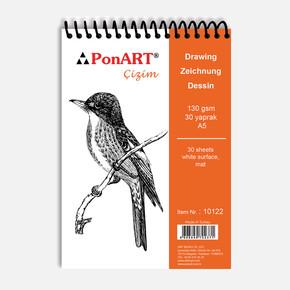10 122 Drawing & Painting Blok 130gr  A5 30 Yaprak
