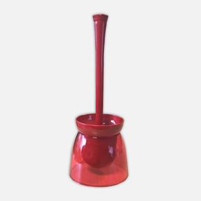 Duo Şefaf Kırmızı Gövde Opak Kırmızı Tuvalet Fırçası