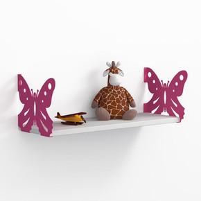Endpa Kelebek Raf Seti Pembe - Parlak Beyaz